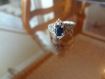 #36--Vintage Sterling Silver Ring--925--Size-7--Old Ring-