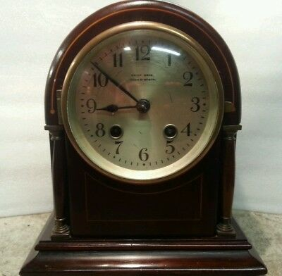 Antique bracket / mantle clock , kemp bros