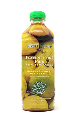 Jungle Pulp PASSION FRUIT Puree Mix Pasteurized Fruit from Costa Rica Perfect /