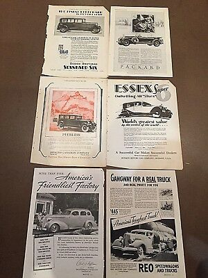 (15) Vintage AUTOMOBILE ADS (8x11 format) 1927-38  [1-3