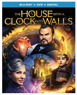 """THE HOUSE WITH A CLOCK IN ITS WALLS"" [Blu-ray + DVD + Digital] NEW w Slipcover"