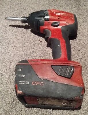 Hilti Sid 22A Impact Driver With 2.6Ah Battery Cordless Tool Used