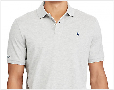 NWT Polo Ralph Lauren Men's Classic Fit Cotton Mesh Polo Shirt Heather Gray XL