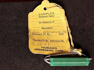 Vintage Teleradio Engineering Co Sample - Line Matching Coil CL-318-4