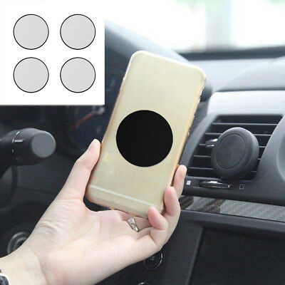 4x Replacement Metal Adhesive Plate Magnet Sticker Pad For Phone GPS Car Holder
