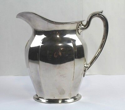 Lovely REED & BARTON Silverplated Water 4 1/2 Pint Pitcher Y574