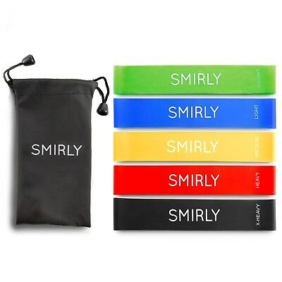 Set of 5 Resistance Loop Bands Yoga Fitness Pilates Exercise Workout *US Seller*