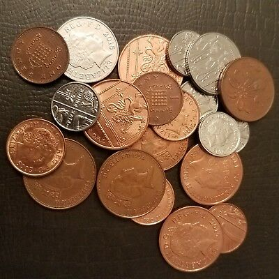 British Coins - Circulated - Lot of 21 coins - See Pictures.