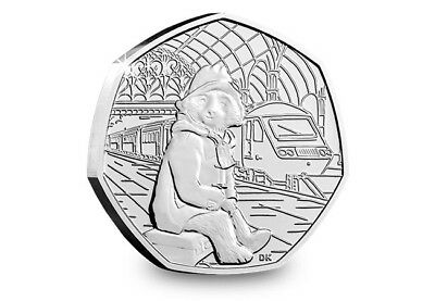 Paddington Bear Station 50p Fifty Pence coin 2018 - Free Postage - Uncirculated