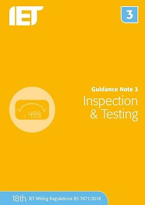 🌞 IET Guidance Note 3: Inspection and Testing 18th Edition 2018 Blue New