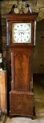 A superb Georgian Mahogany & Inlaid Grandfather Longcase Tallcase Clock C1800