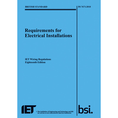 🌞 IET 18th Edition Wiring Regulation Book BS 7671:2018 Electrical Regs BLUE New