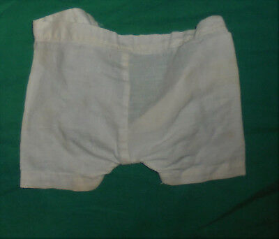 """Vintage 1940's 1950's Baby Doll Clothes White Shorts Pantaloons 10"""" Waist"""