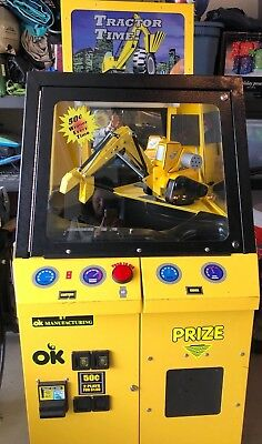 TRACTOR TIME Claw Machine Crane Arcade Game, Used
