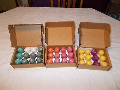 3 Boxes of 12 NEW HOMCO Mixed Scented Votive Candles