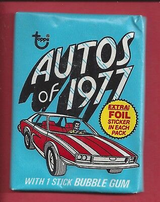 """1977 Topps """" Autos Of 1977 """" Unopened Wax Pack"""