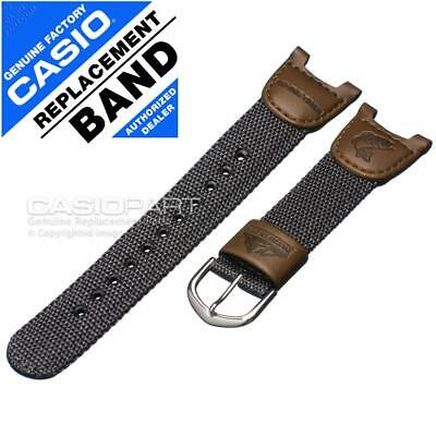Genuine Casio Watch Band Strap Nylon/Leather for Pathfinder PAS-400 PAS-400B-5V