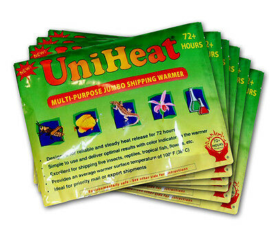 Uniheat 72 Hour Shipping Warmer  Heat Packs  10 Pack -  Fish - Reptile - Plants