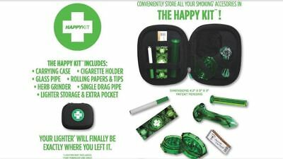 The Happy Kit - All in One Smoking Pouch | Smell Proof | Break Proof