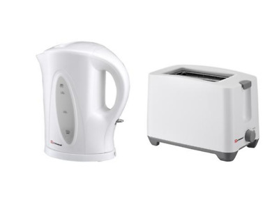 SQ Professional kettle and toaster set white
