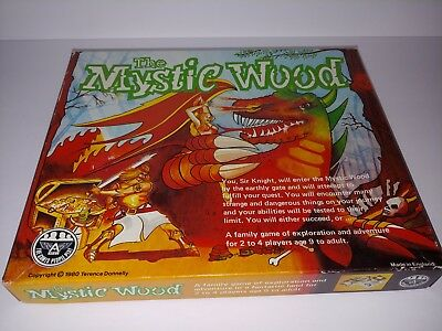 Rare Vintage 1980 The Mystic Wood Board Game RPG Fantasy Terence Donnelly Ariel