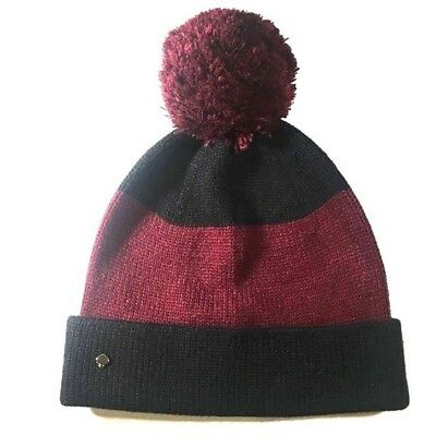 1c071ca1e KATE SPADE NEW York Knit Hat Pompom Colorblock Beanie NEW $78 ...