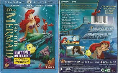 Disney Little Mermaid Diamond Edition Blu-Ray/dvd 2 Disc New With Slipcover Oop