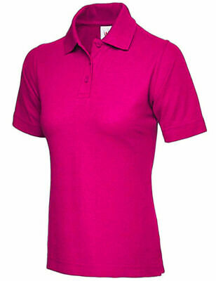 Ladies Premium Polo Shirt Size UK 8 to 26 Plus Pique T-Shirt  **NEW UK STOCK**