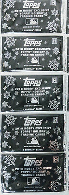 Lot Of (5) 2018 Topps Holiday Bowman Hobby Exclusive 3-Card Packs Factory Sealed