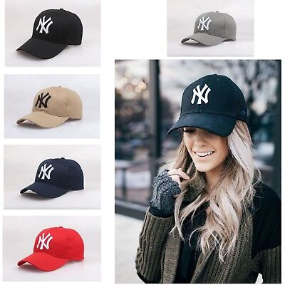 c759f2f3c34 NY Yankees Baseball Cap Autumn Casual Outdoor Sports Adjustable Hat Mens  Womens