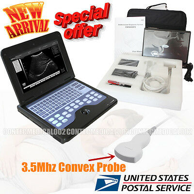 Portable USB Digital Ultrasound machine Scanner +3.5 Mhz CONVEX Probe,USA Fedex