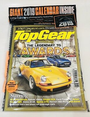 BBC Top Gear Magazine #316 With GIANT 2019 CALENDAR INSIDE! (BRAND NEW SEALED)