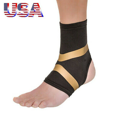 a1329bfd04 2PCS Copper Fit Pro Series Compression Ankle Sleeve Sport Sleeve Brace &  Black