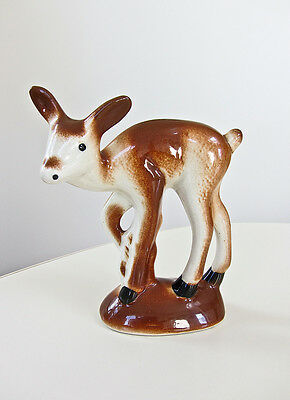 Vtg 40s-50s Robert Simmons California Pottery THE YEARLING Deer Ceramic Figurine