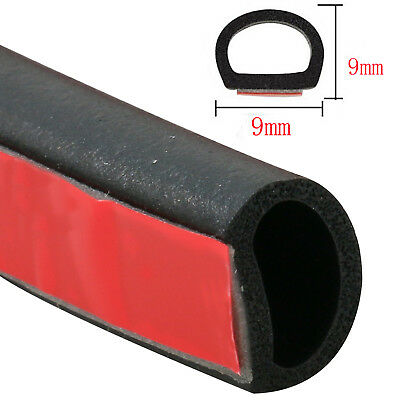 9.8Ft 3M Car Truck Door small D-shape Rubber Seal Weather Strip OEM Hollow 9x9mm