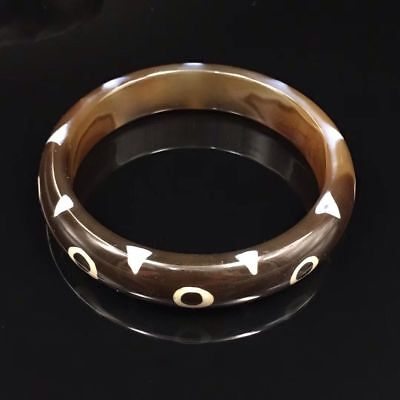 Unique Tibetan 9 Eye Totem Agate Dzi Bangle Amule Collection