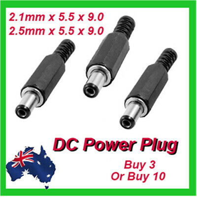 DC Male Plug 5.5x2.1mm or 5.5x2.5mm DC Power Connector Adapter Plastic Handle