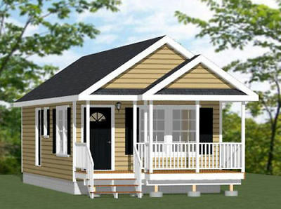 16x32 Tiny House -- 511 sq ft -- PDF Floor Plan -- Model 1O