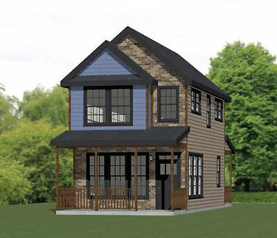 16x30 House -- 2 Bedroom  -- PDF Floor Plan -- 901 sq ft -- Model 22C