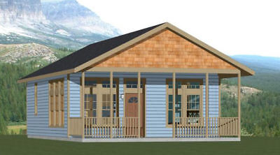 16X30 HOUSE -- 1 Bedroom -- PDF Floor Plan -- 480 sq ft -- Model 4B on