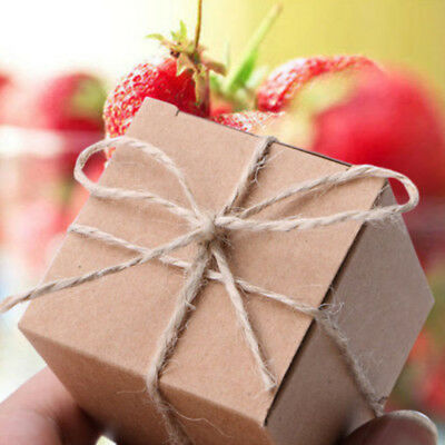 10/50/100PCS Wedding Candy Box Gift Boxes Paper Kraft Pillow Shape Bag Party vcd