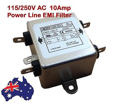 10A 250V EMI/ RFI In Line Power Noise Filter