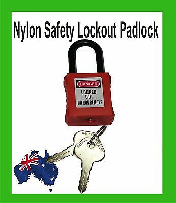 Nylon Safety Padlock- Insulating Protected Lockout-Red