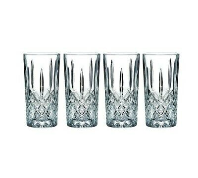 (4 Pack) 14oz. Vintage Fine Crystal Glasses Double Old Fashioned HiBall Glass