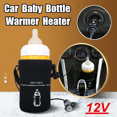 Car Baby Food Milk Bottle Warmer Portable Heater Pouch Constant Temperature 40℃