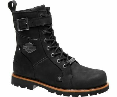 HARLEY-DAVIDSON® MEN S WICKSON Black Leather Motorcycle Riding Boots ... 82c6acf4a63