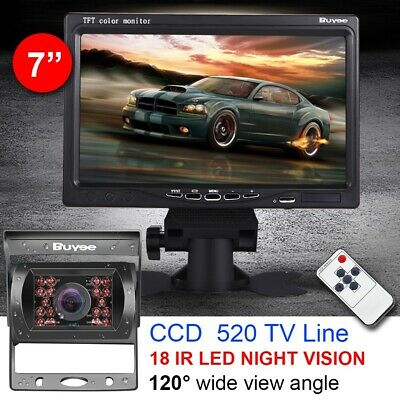 "CAR REAR VIEW KIT For Bus Truck 7"" LCD MONITOR + IR LED REVERSING PARKING CAMERA"