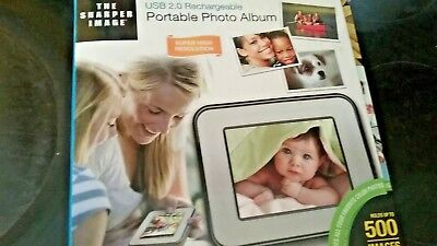 Sharper Image Digital Photo Album Holds 500 Pics, in Box