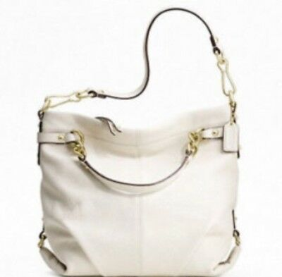 5e7ecc57dd95 COACH PEBBLED IVORY Leather Hobo  Bucket Bag F06S-5715 -  89.99 ...