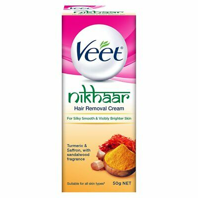 Veet Nikhaar Hair Removal Cream For All Skin Types Bodys Treatment - 50 G